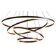 china large acrylic hotels remote ring lighting fixtures led dimmable circular modern chandelier for high ceilings