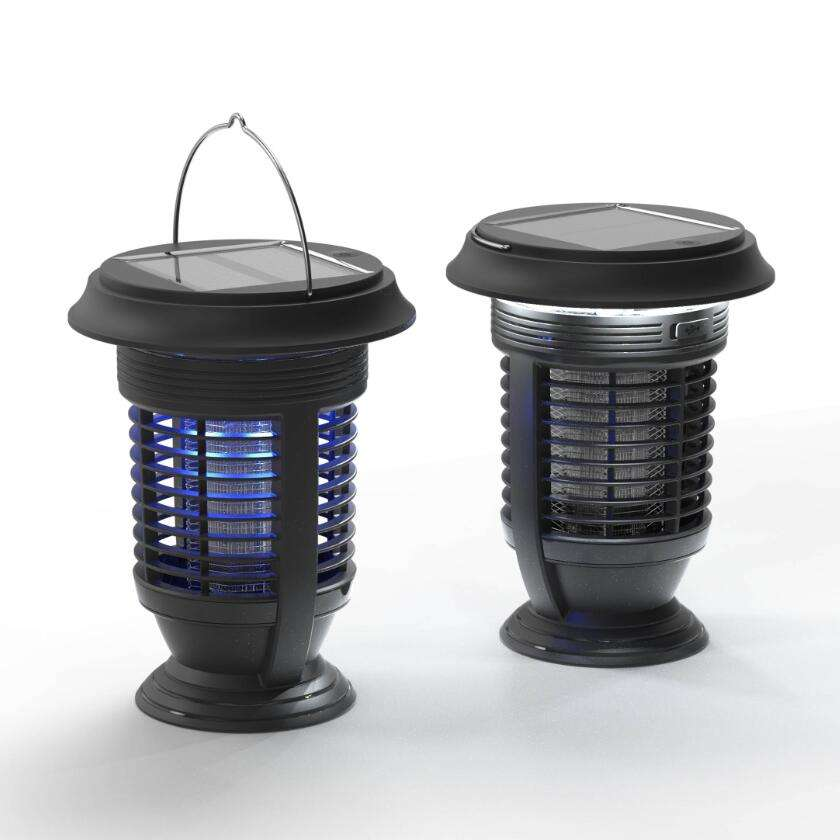 New Solar Mosquito Bug Zapper Killer Lantern with Automatic Cleaning