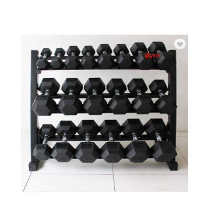 Chepaer Gym Equipment Stand Chrome Circle Hex X Dumbbell Rack With set