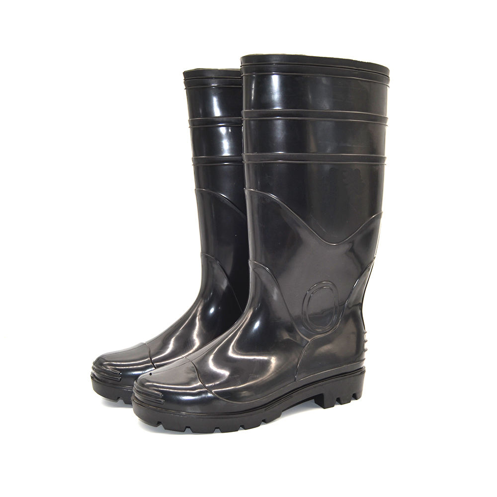Design your own china wholesale pvc knee high boots portable rain boots