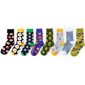 Men and women couples poached eggs food pattern fashion socks custom design wholesale
