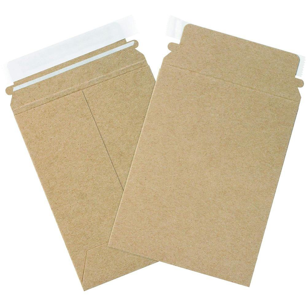 Rigid Photo Envelopes Printed Cardboard Mailer Envelope Recycled Stay Flat Envelope For Packaging