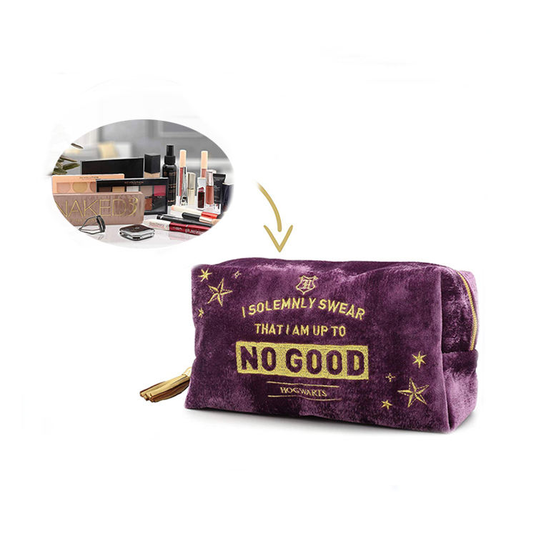 Hogwarts Gifts Velvet Make Up Bags for Women Travel Accessories