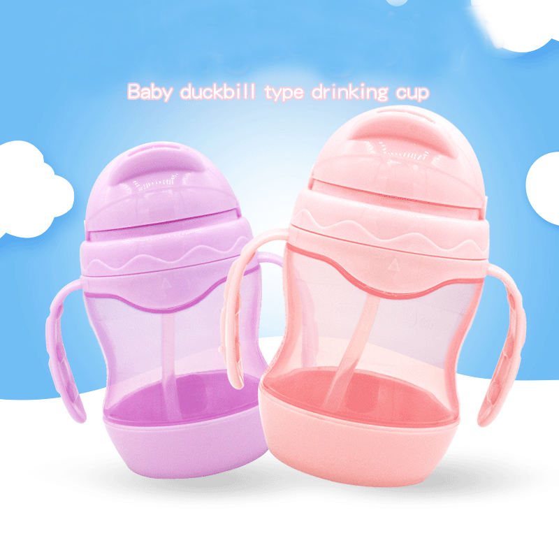 Baby Products of All Types Sippy Training Cup Silicone Straw Baby Sippy Cup Bottle PP Sippy Cup