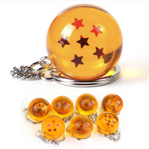 NEW Anime Dragon Ball Z Keychains Orange Pvc 1-7stars Goku Dragonball Key Chains Plastic Pendant Llavero Chaveiro Gift For Fans