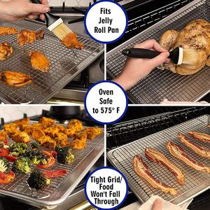 Professional Aluminum Jelly Roll Pan Size Baking Sheet with Stainless Steel Cooling Rack