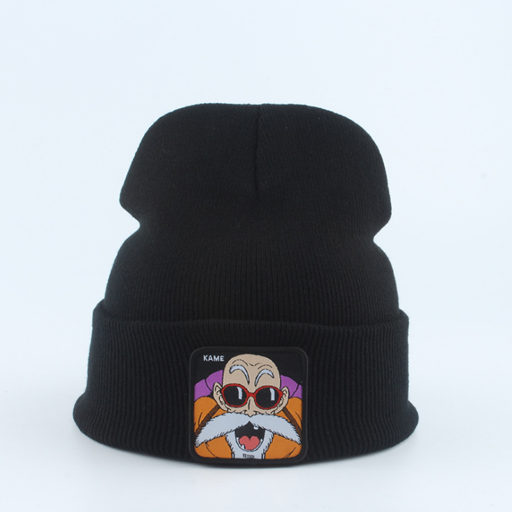 YWLL Black Dragon Ball Goku Vegeta Frieza Beanie Chapéu Chapéu Goku