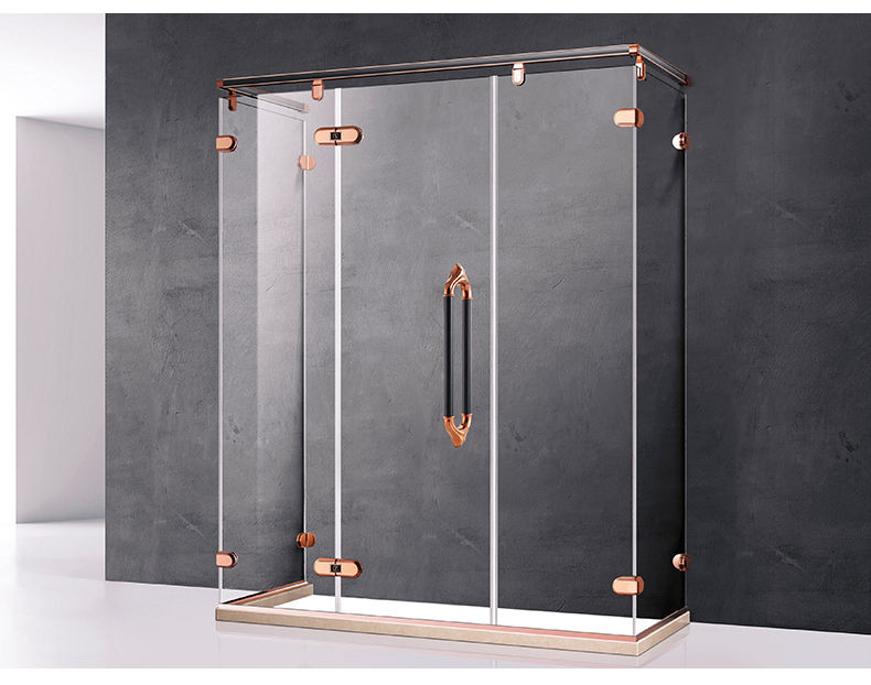 Modern minimalist standard size outdoor steam shower room glass door