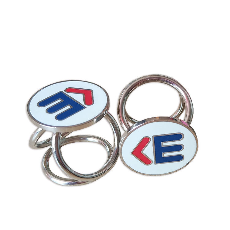 Stainless Steel Jewelry Three Circle Lady Women Silver Enamel Scarf Ring Wholesale