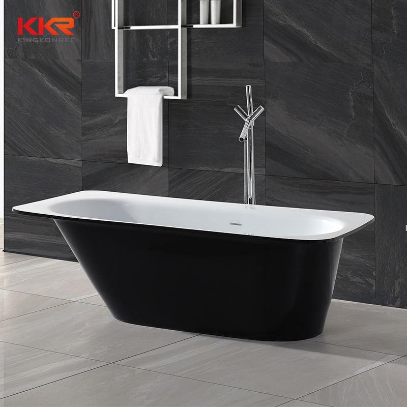 Italay nouvelle conception solide surface lavabo baignoire en pierre artificielle en gros prix