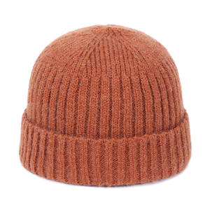 Wholesale Autumn Winter Warm Solid Color Unisex female male Knitted Beanie Hat Men Women Casual Cotton Winter Hat