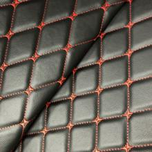 Embroidery quilted ECO friendly recycled PVC faux leather fabric for car seat cover