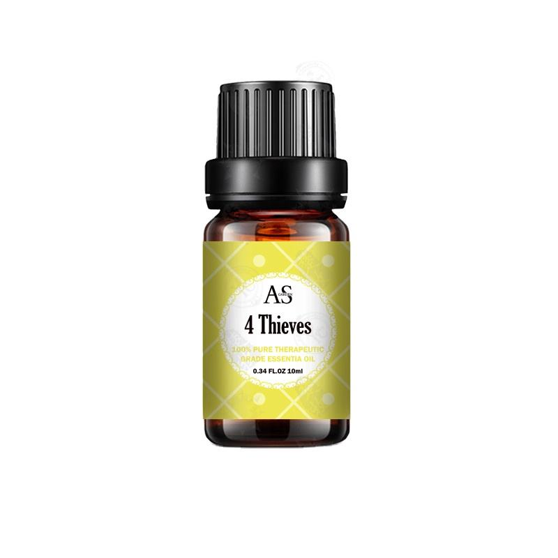 4 Thieves Well Relax Breathe Easy Muscle Relief Energize Therapeutic Grade Best Blend Essential Oil Set