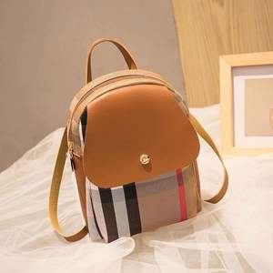 Korean new simple small backpack mobile phone bag one shoulder handbag color contrast small backpack