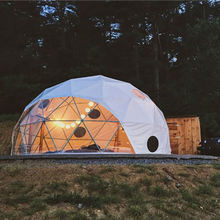 prefabricated geodesic dome tent house for outdoor camping 30 sqm