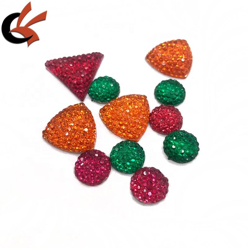 Dotted surface shinning various shape flatback resin rhinestones