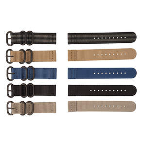 Custom 18mm 20mm 22mm 24mm width nylon watch band strap for watch