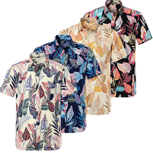 Wholesale Summer Cotton Digital printing Men's Hawaiian Short Sleeve Shirts