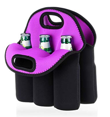 6 Pack Beer Cooler Tote Bag, Extra Thick Neoprene Beer Bottle/Can/Beverage Carrier, Insulated Baby Bottles Tote Sleeve