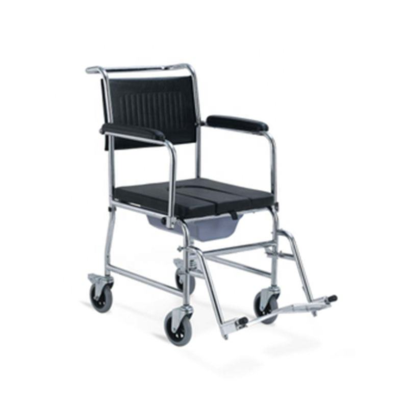 AGSTWC010 High Quality Basic Simple Standard Commode Wheelchair