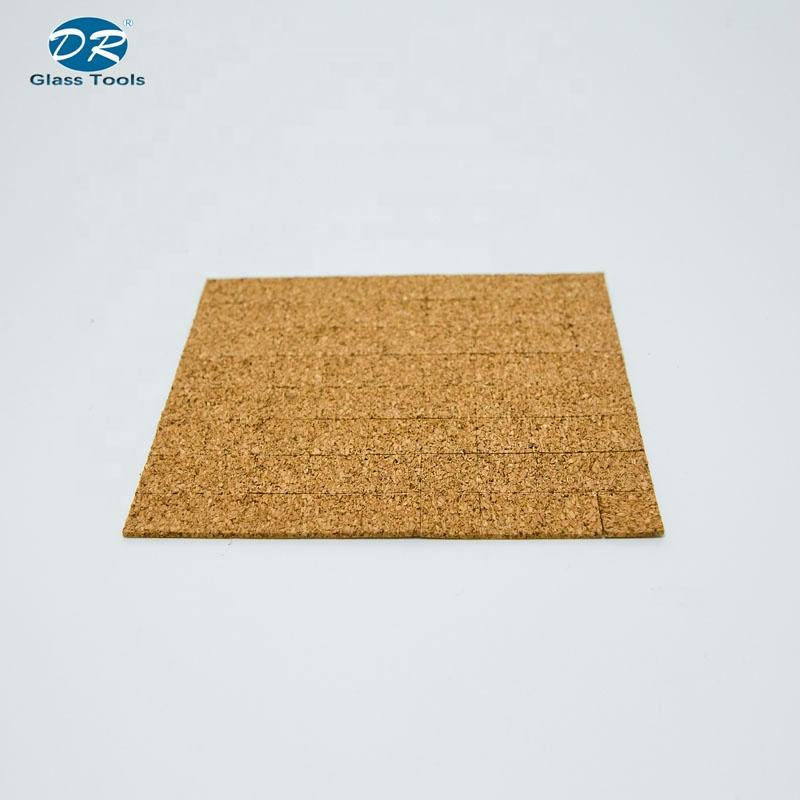 15*15mm customize size available adhesive cork pad for plate glass