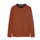 New Design manufactures 60% Polyester 40% Cotton French Terry O-Neck t shirt stripe t shirt mens, men long sleeve t-shirt