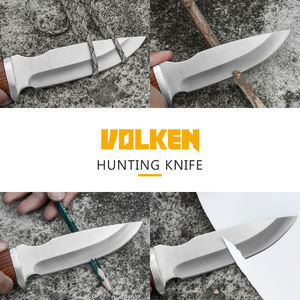3Cr13 stainless steel high quality straight knife fixed blade knife outdoor hunting color wooden non-slip handle tactical knife