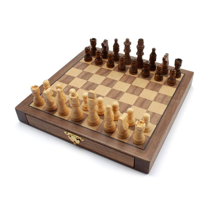 African Chess Sets 10 In 1 Wooden Chess Game 3 Inch Checkers Chess