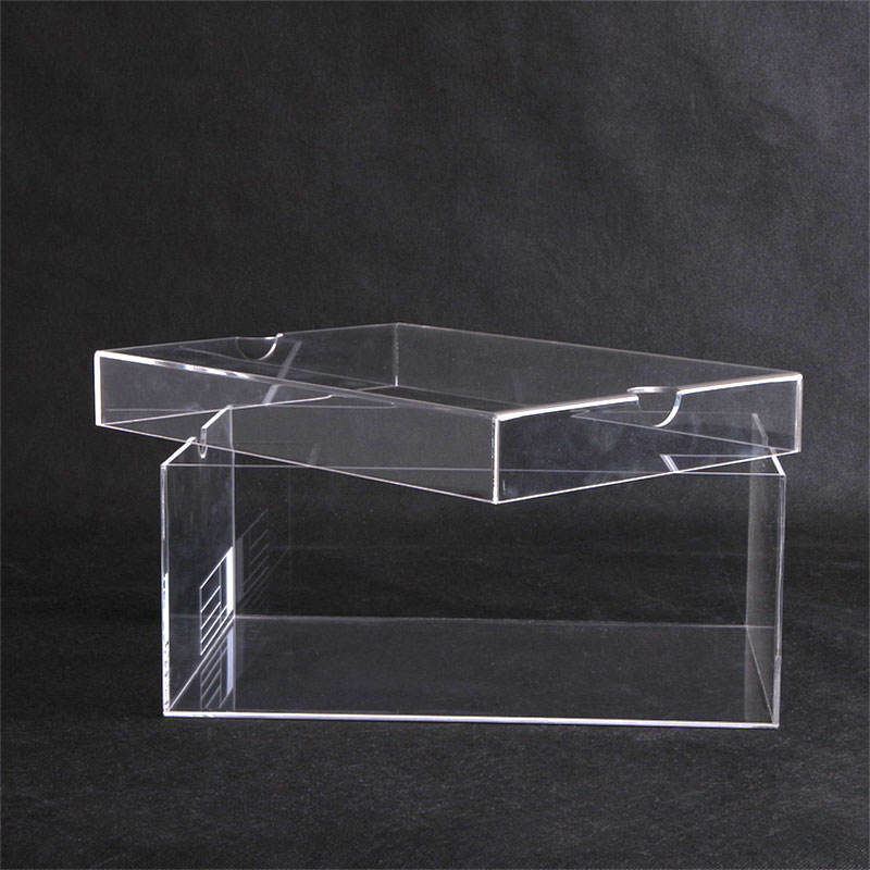 Custom Clear Acrylic Display Risers Showcase Stand Acrylic Shoe Rack For Retail