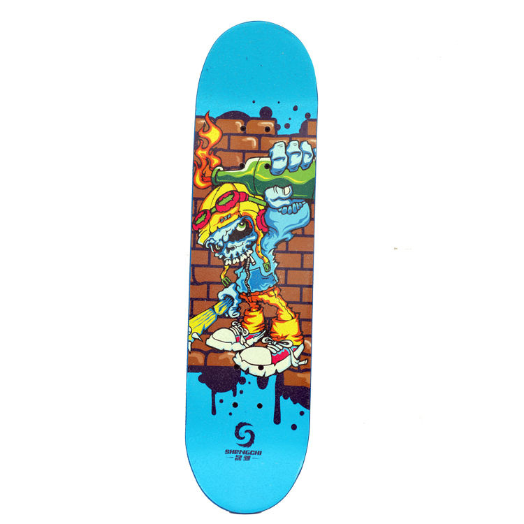 2019 New 7 Layer 100% Canadian Maple Free Sample Skateboard , 4 Wheels Longboard Deck Skateboard Complete