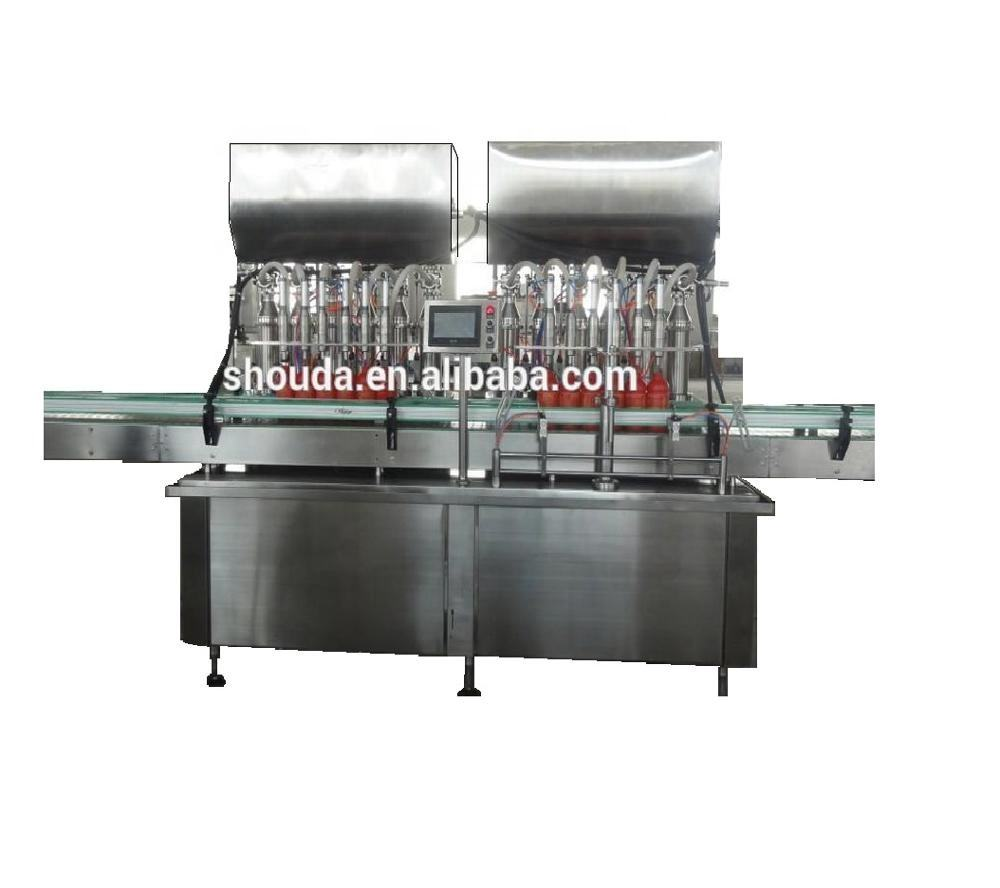 Factory price glass bottle honey sauce butter filling machine and packaging line