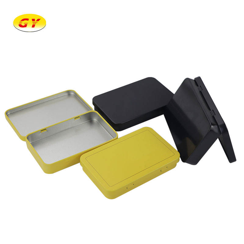 High quality small tin box with hinged small tin box