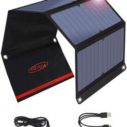 20W Solar Phone Charger with Dual USB(5V/2A), Portable Solar