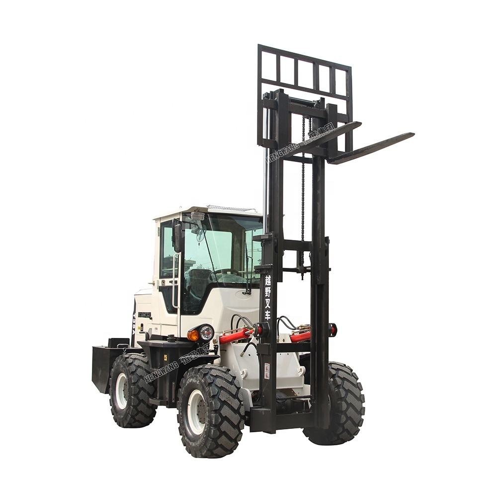 4.0 tons 5 tons Diesel balanced forklift/ Off-road forklift with bucket/ transportation vehicle