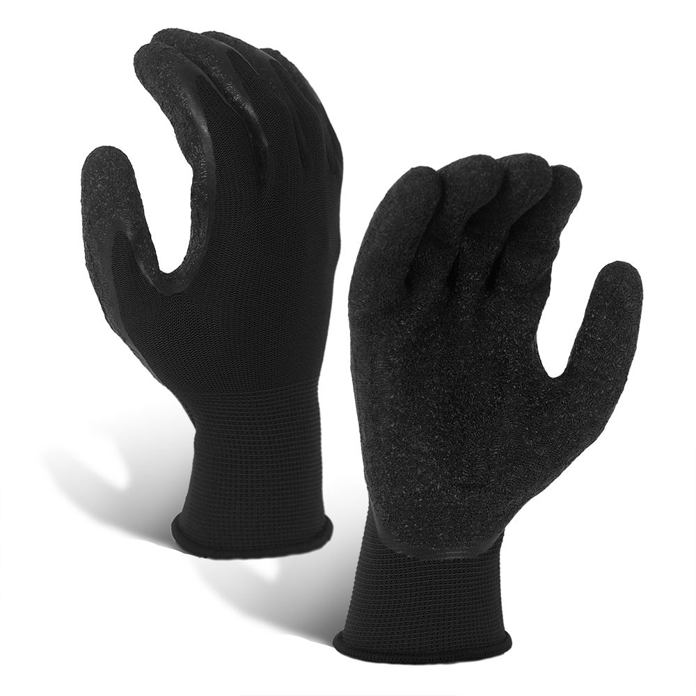 Wholesale 13G Polyester Breathable Latex Coated Gloves for Industry