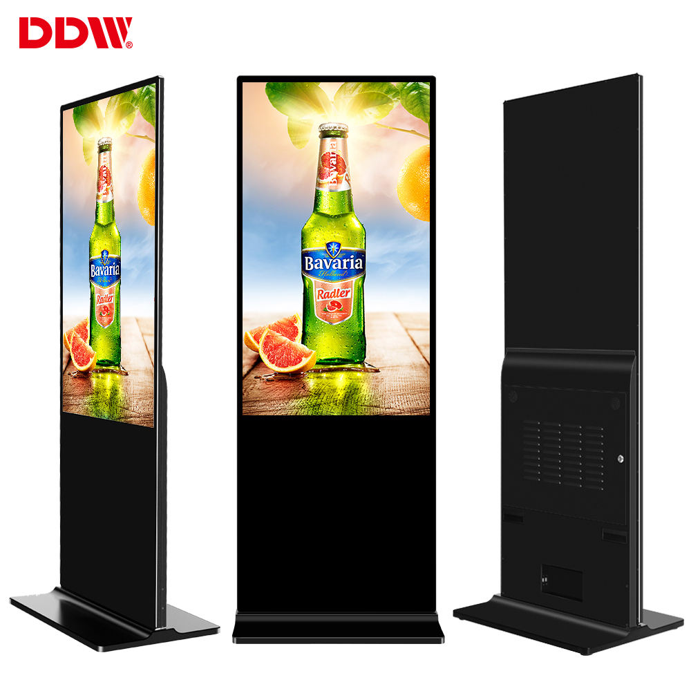 Factory hot 49 inch 55 inch vertical ad floor stand advertising tv 4g wifi media player led lcd digital signage display monitor