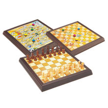 3 In 1 Family Boardgame Wooden Chess Pieces Board Game For Kids