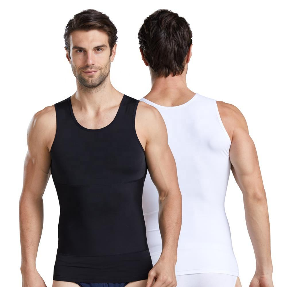 W012 260g Free Cut Tummy Control Compression Custom Logo Fat Men Magic Body Shapewear