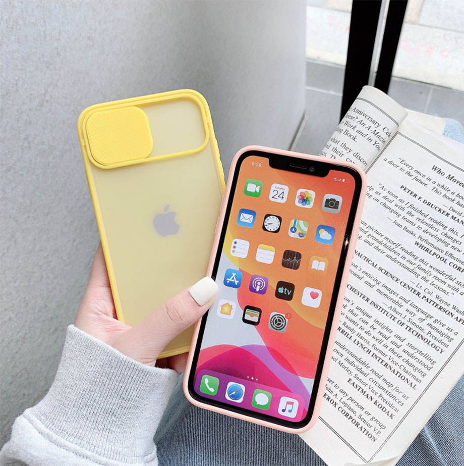 Hot selling Lens Slide Camera Protective Soft TPU Mobile Cell Phone Case Cover For Iphone 11 Case With Camera Protection