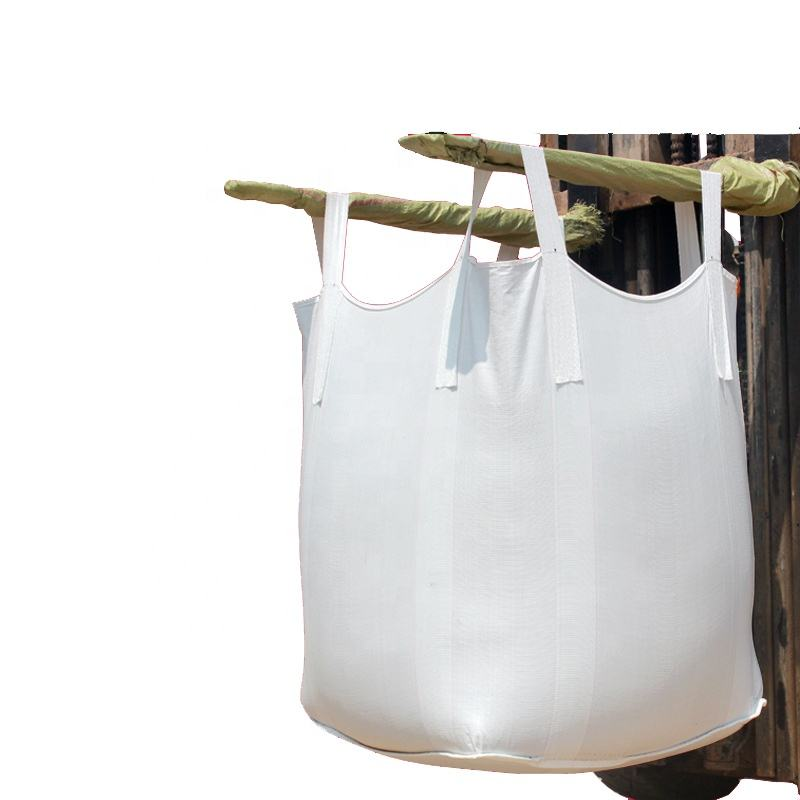 Custom Large FIBC Bulk PP Jumbo Bags with Filling Spout Large Capacity 500 - 3000kg