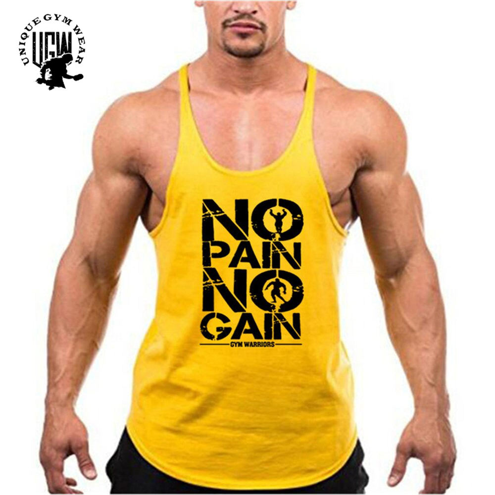 Wholesale Gym Stringer Bodybuilding Men's Vest Design Your Own custom Logo Stringer Vests