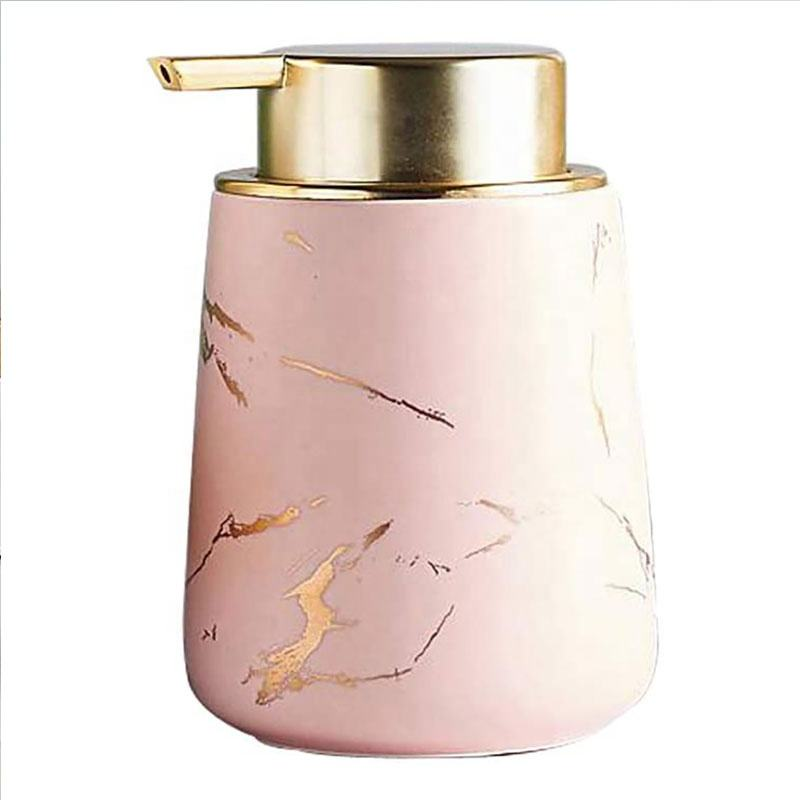 400ml Marbling Ceramic Lotion Dispensing Pump liquid soap dispenser bottle