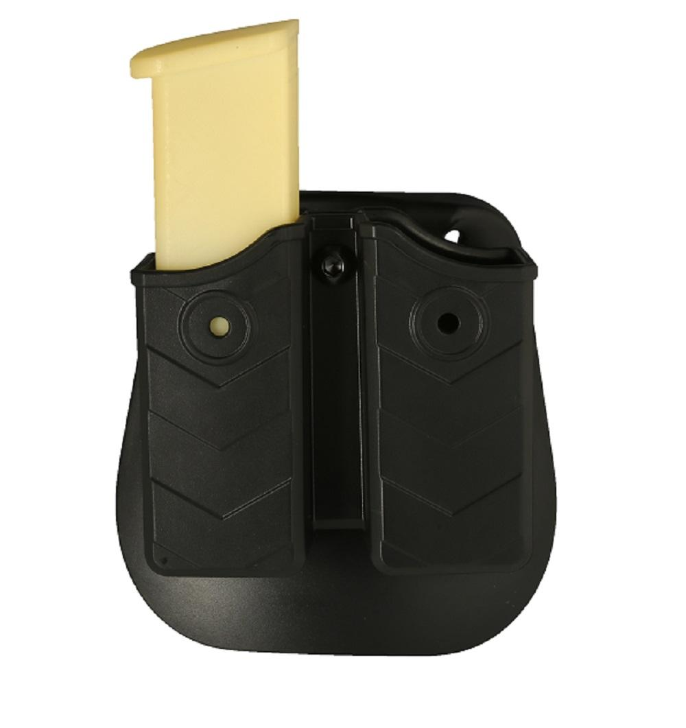 Tactop New Black Universal Double Stack Magazine Pouch Well Fit Over 60 Pistols Magazines