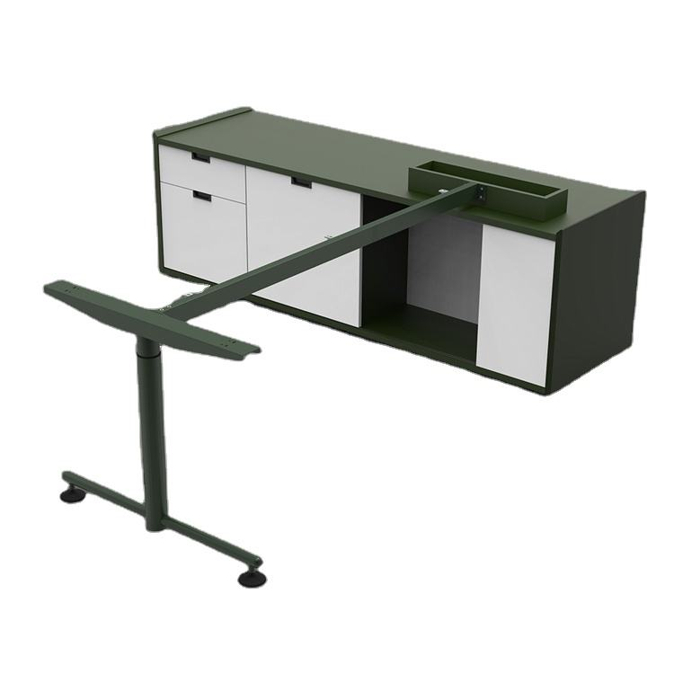 Modern CEO L shape manager secretary sit stand reception executive office desk design