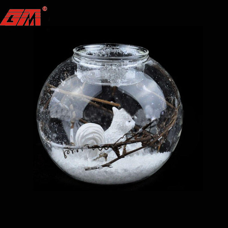Handmade decorative clear Christmas glass tea light candles holders