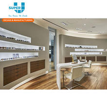 Wooden Sunglasses Store Furniture Glasses Showroom Display Showcase Optical Eyewear Shop Counter Advertising Design