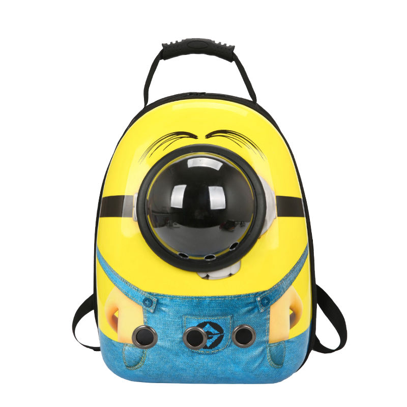 Portable shoulder space capsule dog carrying breathable pet bag travel backpack to eat factory direct pet supplies