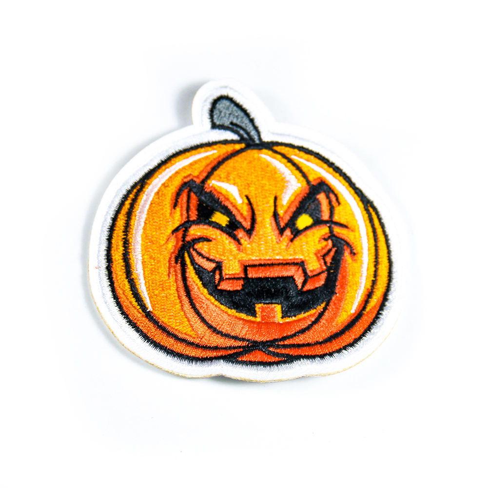 High quality fashion embroidery custom pumpkin patch clothing patches