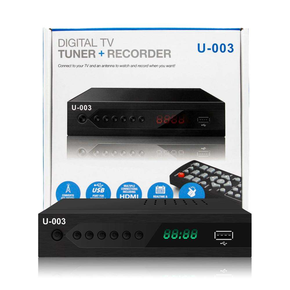 Full HD DVB-ATSC MPEG4 H.264 HD ATSC STB TV tuner 1080p destek Wifi Youtube