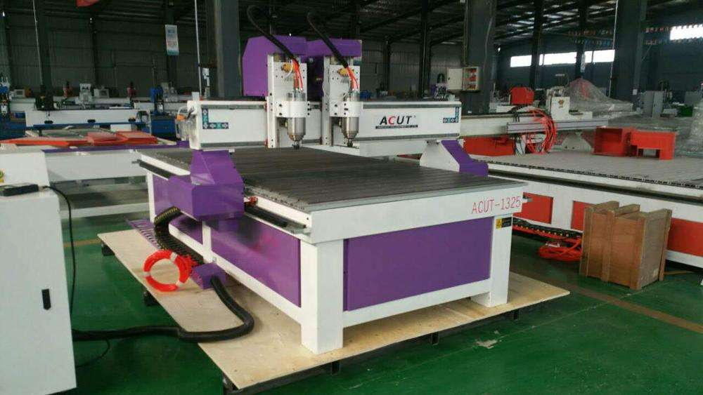 Double spindle wood working cnc router machine